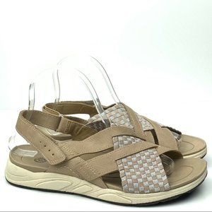 Earth spirit sandals size 8 39.5 taupe walking